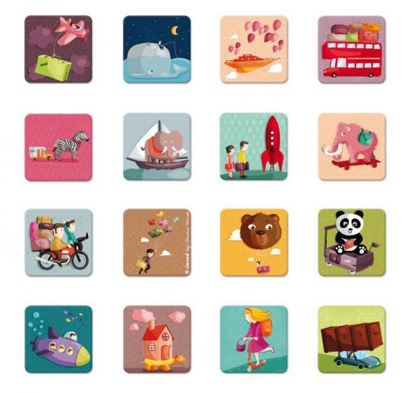 Купить Развивающая игра на запоминание Janod Окружающий мир в интернет магазине игрушек и детских товаров