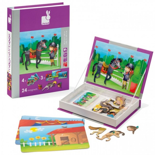 Магнитная книга-игра Janod Лошади и наездники