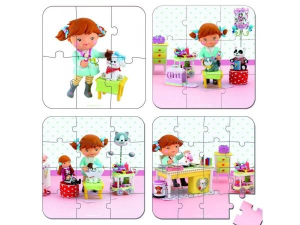 Купить Пазл в чемоданчике 4 в 1 Janod Я - ветеринар в интернет магазине игрушек и детских товаров