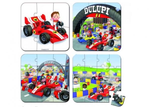 Купить Пазл в чемоданчике 4 в 1 Janod Я - гонщик Формулы-1 в интернет магазине игрушек и детских товаров