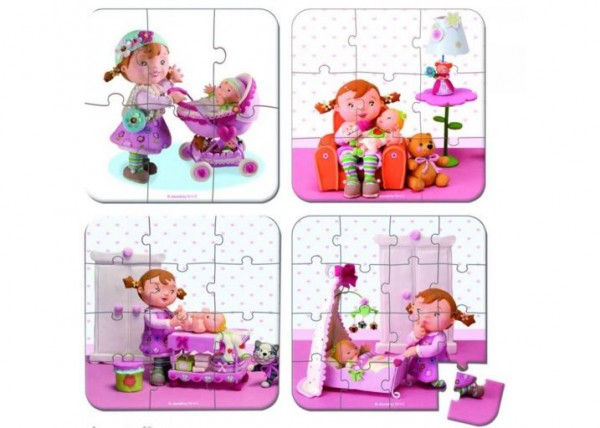 Купить Пазл в чемоданчике 4 в 1 Janod Я - мама в интернет магазине игрушек и детских товаров