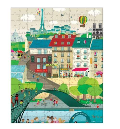Купить Большой пазл в чемоданчике Janod Париж 3 в 1 - 198 детелей в интернет магазине игрушек и детских товаров