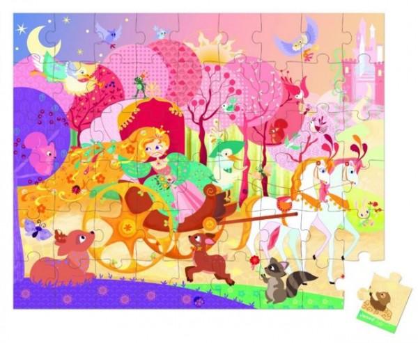 Купить Пазл в чемоданчике Janod Принцесса в карете - 54 детали в интернет магазине игрушек и детских товаров