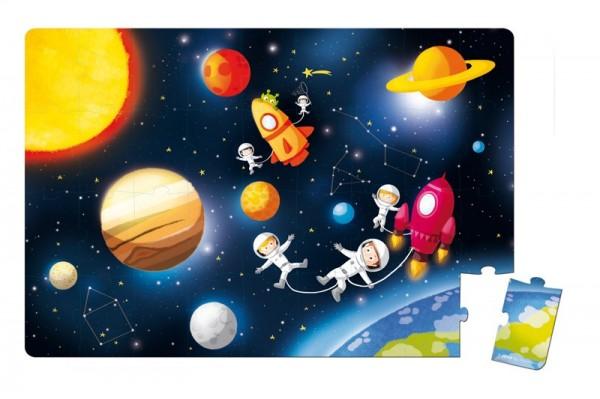 Купить Напольный пазл в чемоданчике Janod Галактика в интернет магазине игрушек и детских товаров