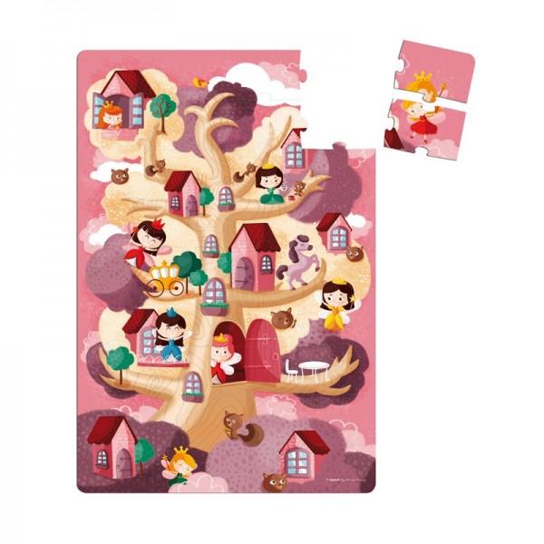 Купить Напольный пазл в чемоданчике Janod Королевство - 36 детелей в интернет магазине игрушек и детских товаров