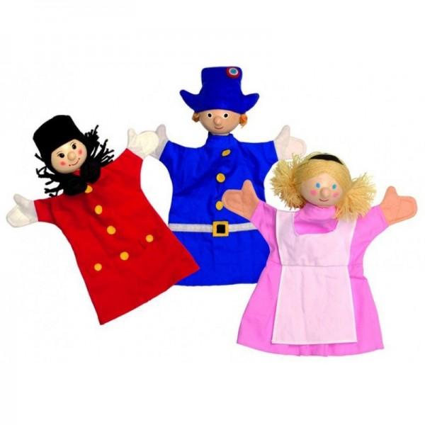 Купить Игровой набор Janod Петрушка и его друзья (3 куклы) в интернет магазине игрушек и детских товаров