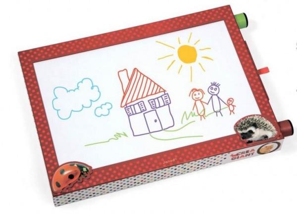Купить Доска для рисования Janod с 6 фломастерами в интернет магазине игрушек и детских товаров