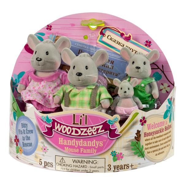 Игровой набор Lil Woodzeez Семейка мышей
