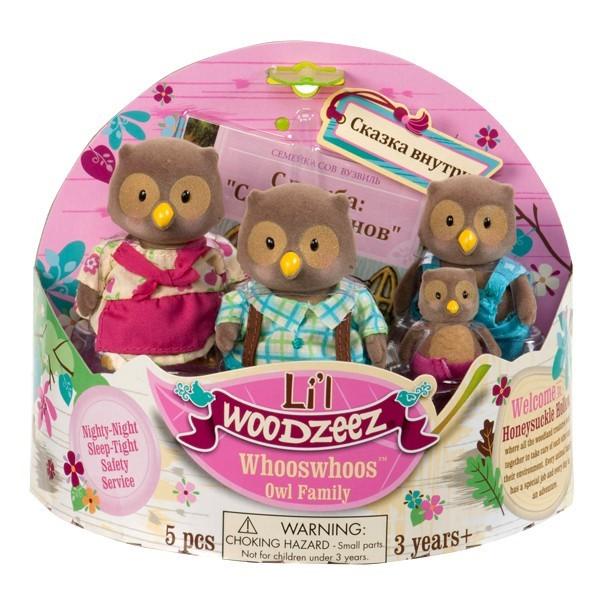 Игровой набор Lil Woodzeez Семейка сов