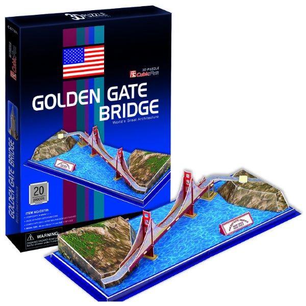 Купить Объемный 3D пазл CubicFun Мост Золотые ворота в Сан-Франциско в интернет магазине игрушек и детских товаров