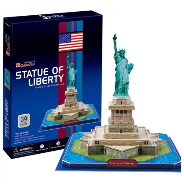 Купить Объемный 3D пазл CubicFun Статуя Свободы в США в интернет магазине игрушек и детских товаров