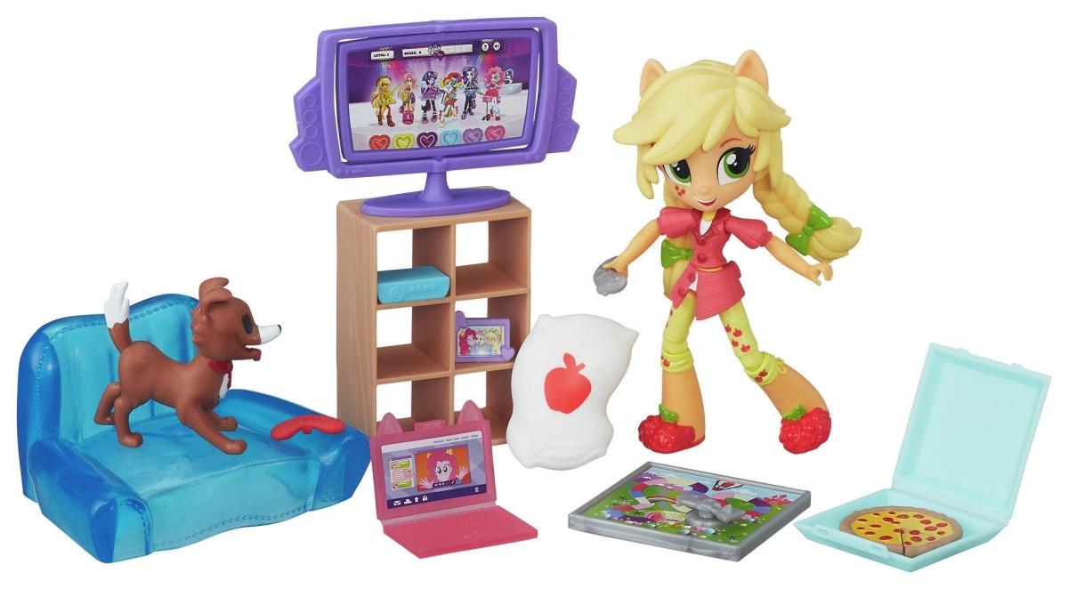 Игровой набор My Little Pony Equestria Girls Пижамная вечеринка - Эплджек Applejack (Hasbro)