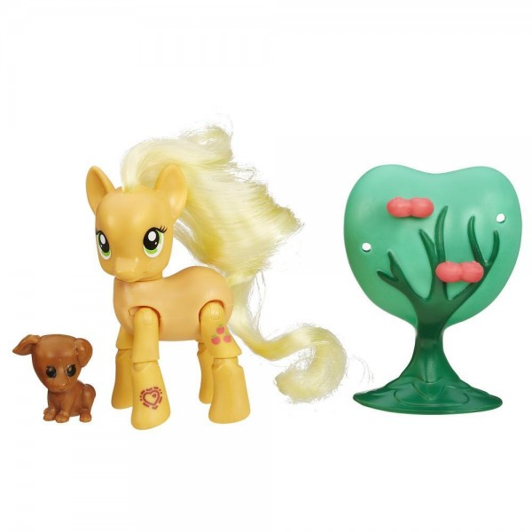 Игровой набор My Little Pony Пони с артикуляцией - Эпплджек Applejack с собачкой (Hasbro)