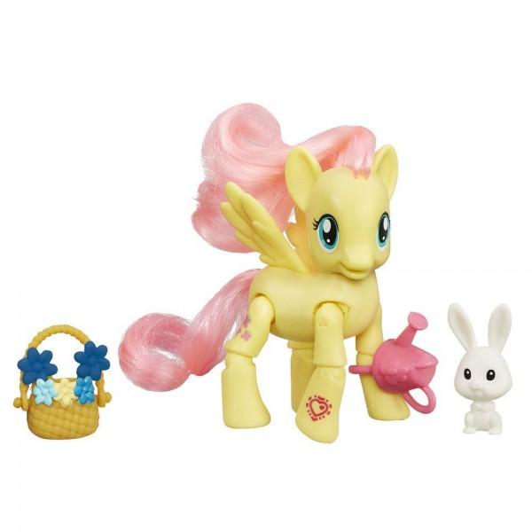 Игровой набор My Little Pony Пони с артикуляцией - Флаттершай Fluttershy с кроликом (Hasbro)