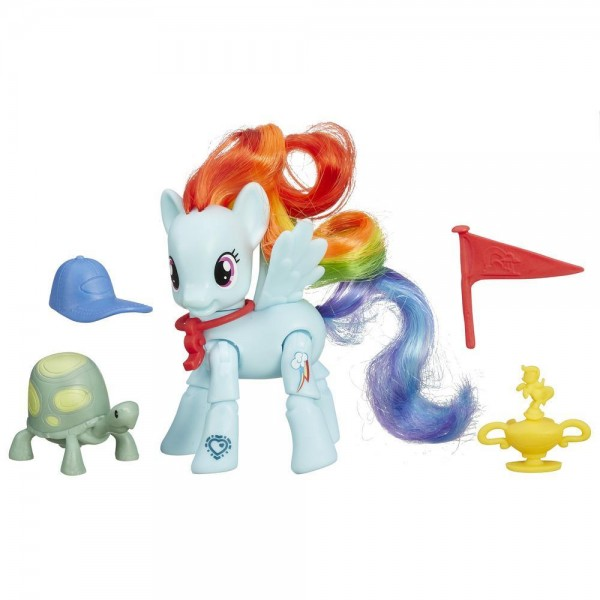 Игровой набор My Little Pony Пони с артикуляцией - Рейнбоу Дэш Rainbow Dash с черепашкой (Hasbro)
