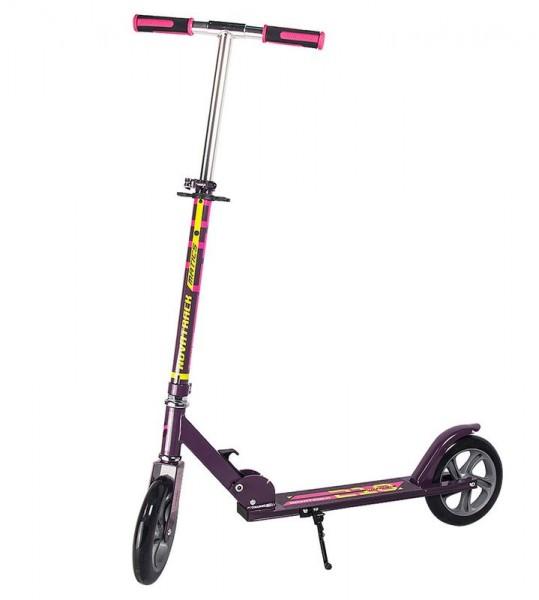 Детский железный самокат Novatrack Matics - фиолетово-розовый