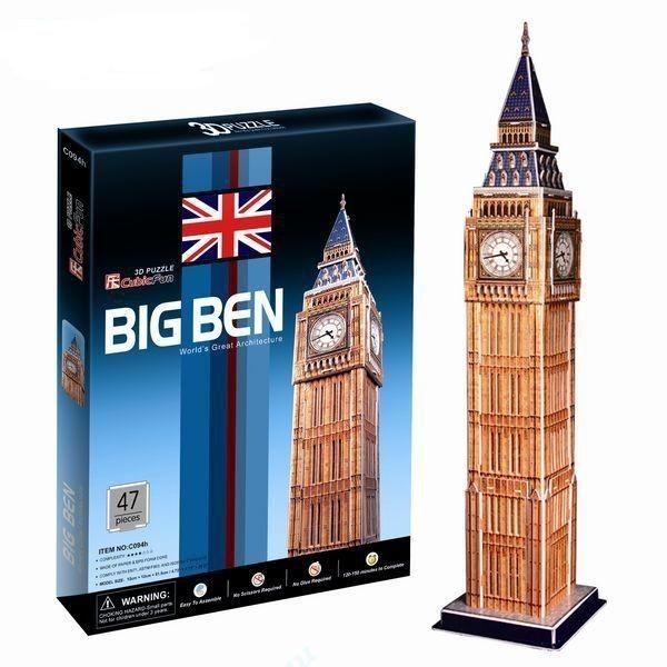 Объемный 3D пазл CubicFun C094h Биг Бен в Великобритании