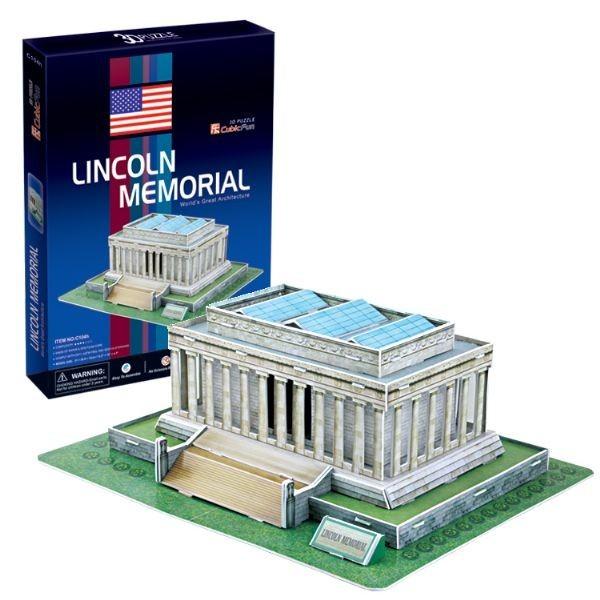 Купить Объемный 3D пазл CubicFun Мемориал Линкольна в США в интернет магазине игрушек и детских товаров