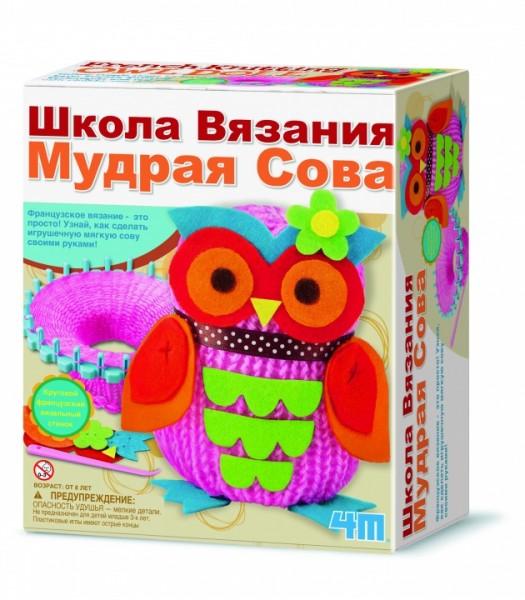 Набор для творчества 4M 00-02764 Школа вязания - Мудрая Сова