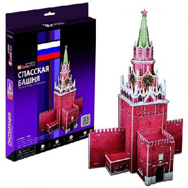 Объемный 3D пазл CubicFun Спасская башня