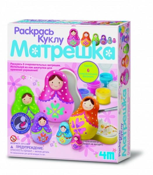 Набор для творчества 4M 00-04617 Раскрась куклу - Матрешка