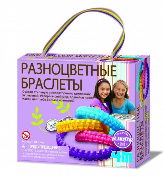 Набор для творчества 4M 00-04643 Разноцветные браслеты