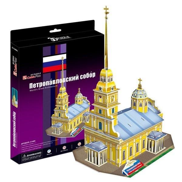 Объемный 3D пазл CubicFun C140h Петропавловский собор (Россия)