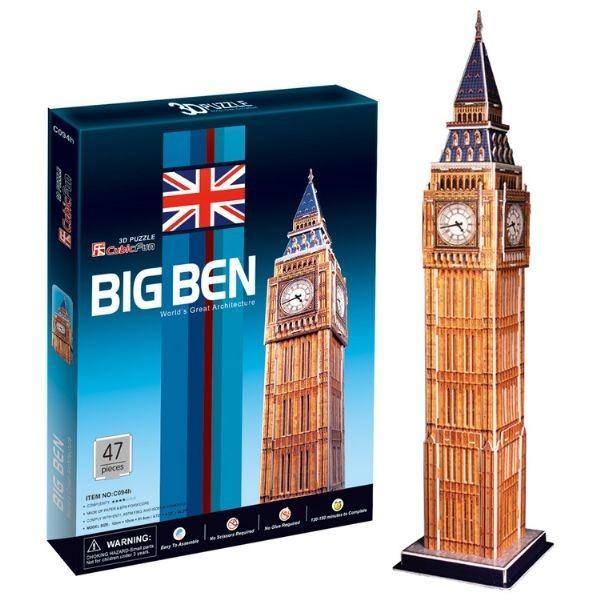 Купить Объемный 3D пазл CubicFun Биг Бен 2 (Великобритания) в интернет магазине игрушек и детских товаров