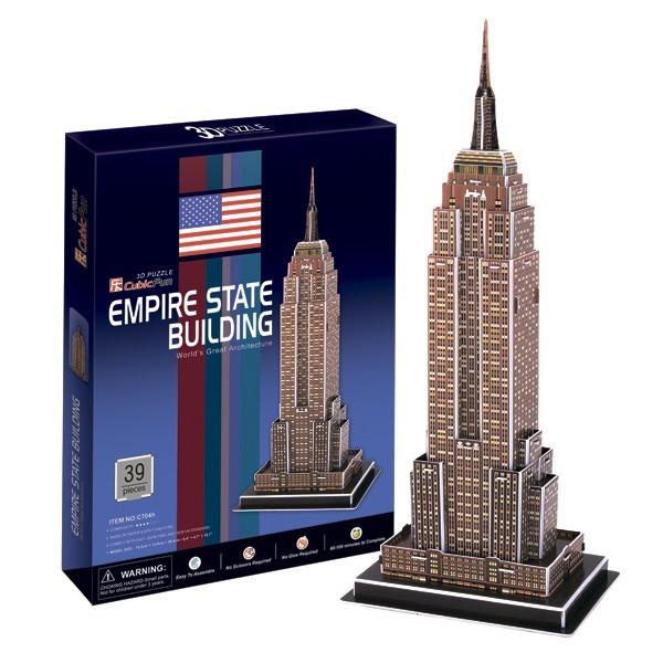 Купить Объемный 3D пазл CubicFun Небоскреб Эмпайр Стейт Билдинг в США в интернет магазине игрушек и детских товаров