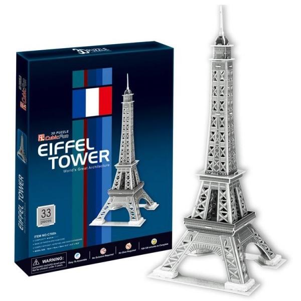 Объемный 3D пазл CubicFun C705h Эйфелева Башня 2 (Франция)