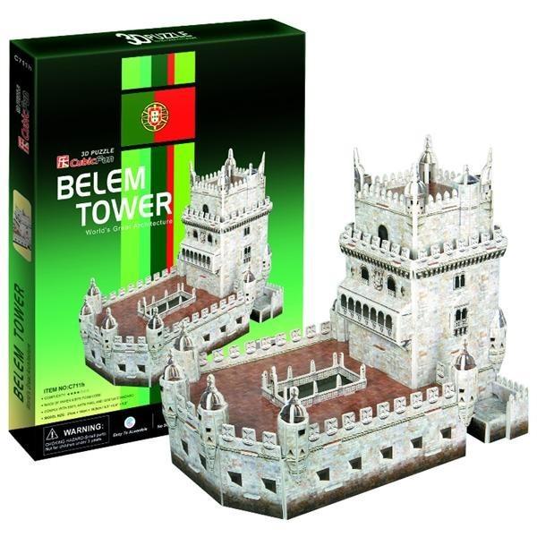Объемный 3D пазл CubicFun C711h Башня Белем в Португалии