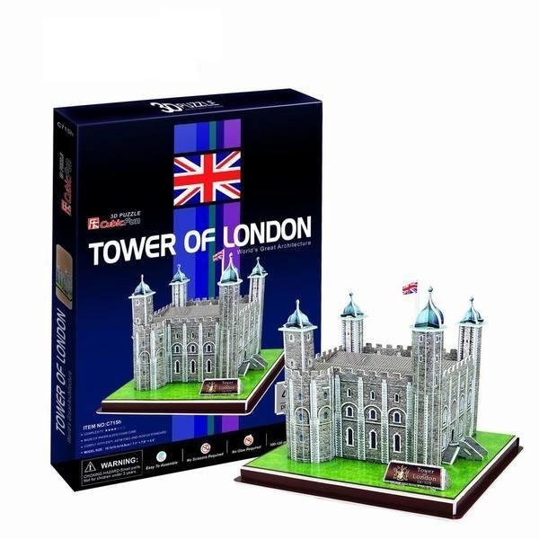 Объемный 3D пазл CubicFun C715h Лондонский Тауэр (Великобритания)