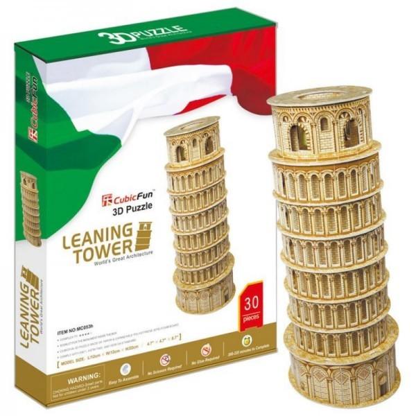 Купить Объемный 3D пазл CubicFun Пизанская башня (Италия) в интернет магазине игрушек и детских товаров