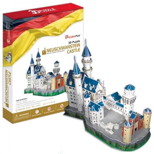 Объемный 3D пазл CubicFun MC062h Замок Нойшванштайн в Германии