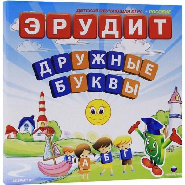 Купить Настольная игра Биплант Эрудит дружные буквы в интернет магазине игрушек и детских товаров