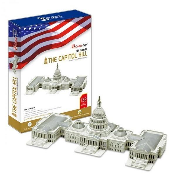 Объемный 3D пазл CubicFun Капитолий в США