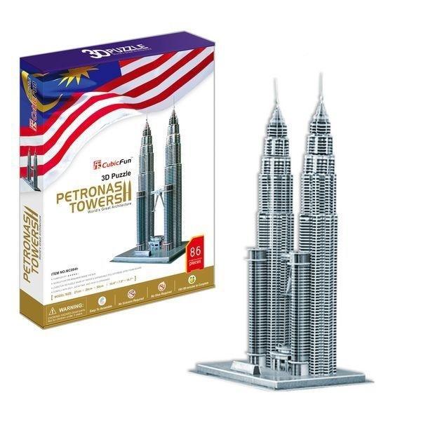 Купить Объемный 3D пазл CubicFun Башни Петронас (Малазия) в интернет магазине игрушек и детских товаров