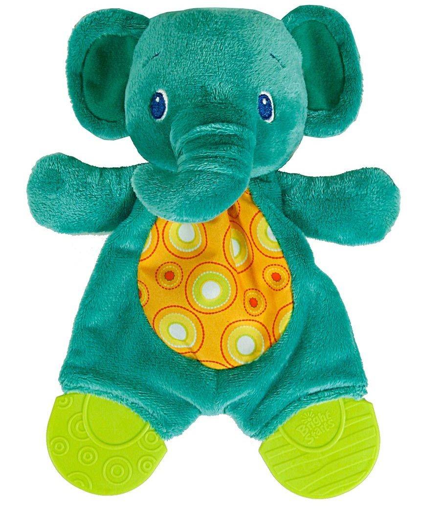 Развивающая игрушка Bright Starts 8916-2 Самый мягкий друг с прорезывателями - Слоненок