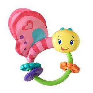 Развивающая игрушка-погремушка Bright Starts Розовая бабочка