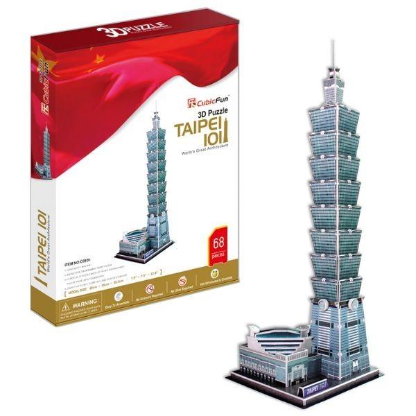 Купить Объемный 3D пазл CubicFun Небоскреб Тайбэй (Тайвань) в интернет магазине игрушек и детских товаров