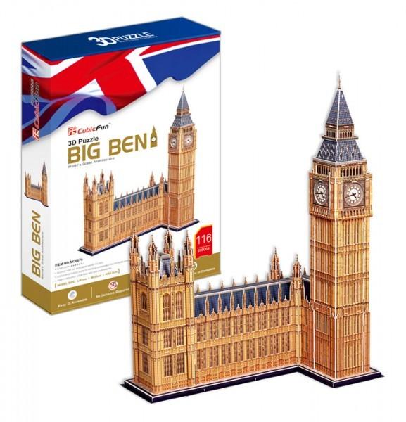 Объемный 3D пазл CubicFun MC087h Биг Бен (Великобритании)