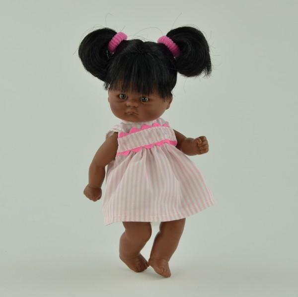 Купить Кукла-пупс Asi - 20 см афроамериканская внешность (в розовом платье) в интернет магазине игрушек и детских товаров
