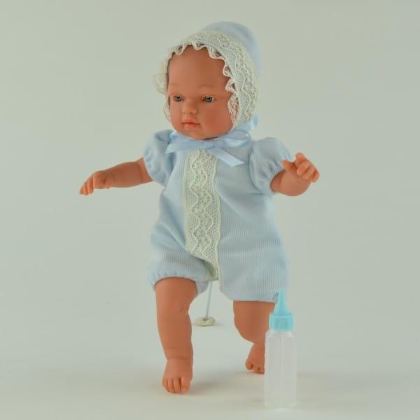 Кукла-пупс Asi 413271 Гугу - 27 см (в голубом костюмчике и чепчике)