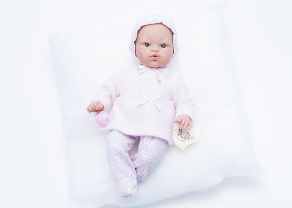 Кукла-пупс со звуком Asi 403220 Коки - 36 см (в розовом комплекте, с бутылочкой)