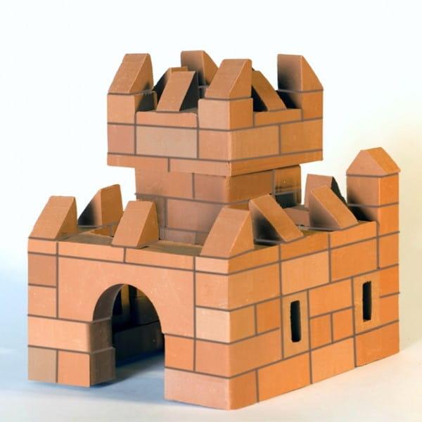 Купить Конструктор из кирпичиков БрикНик Крепость 2 в 1 - 119 деталей в интернет магазине игрушек и детских товаров