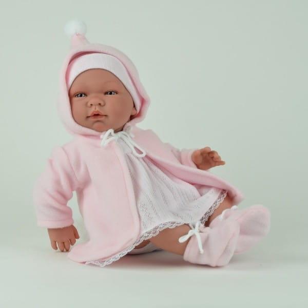 Кукла-пупс Asi 362960 Мария - 45 см (в розовом платье, шапочке и пальто, с пустышкой)