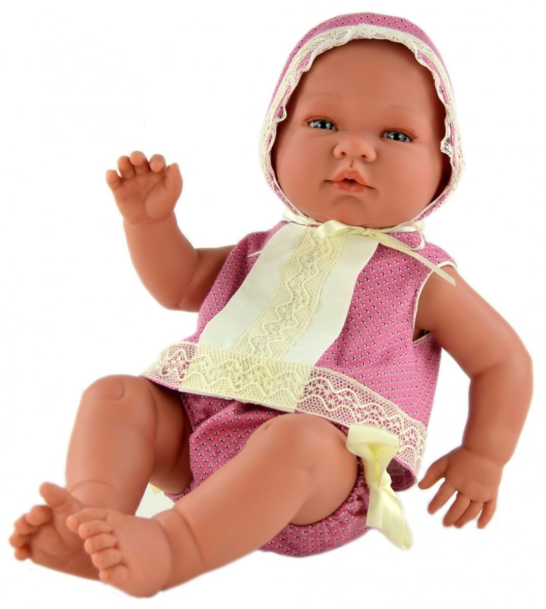 Кукла-пупс Asi 363300 Мария - 45 см (в ярко-розовом костюмчике и шапочке, с пустышкой)