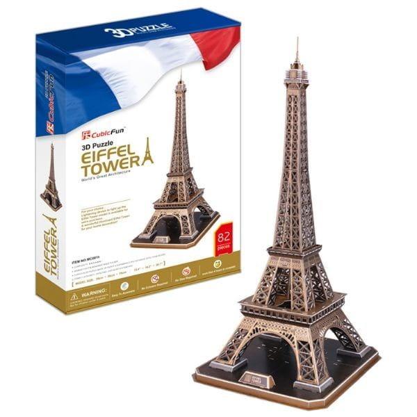 Объемный 3D пазл CubicFun Эйфелева башня (Франция) - 82 детали