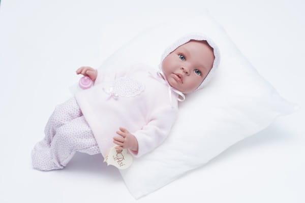 Кукла-пупс со звуком Asi 183220 Лео - 50 см (в розовом комплекте)
