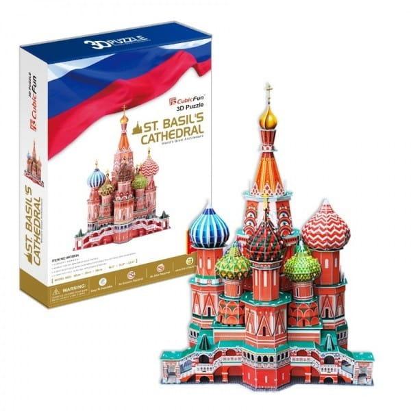 Объемный 3D пазл CubicFun MC093h Собор Василия Блаженного